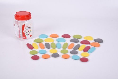 Junior Rainbow Pebbles Earth Colours 36pk